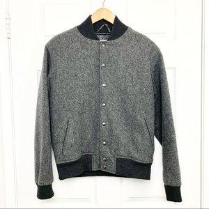 American Apparel wool blend bomber jacket